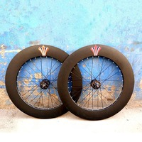 Fixed Gear Fixie 90mm Wheels Aluminum Alloy Wheelset Flip Flop Wheels Road Bike Wheelset Fixie Wheelset
