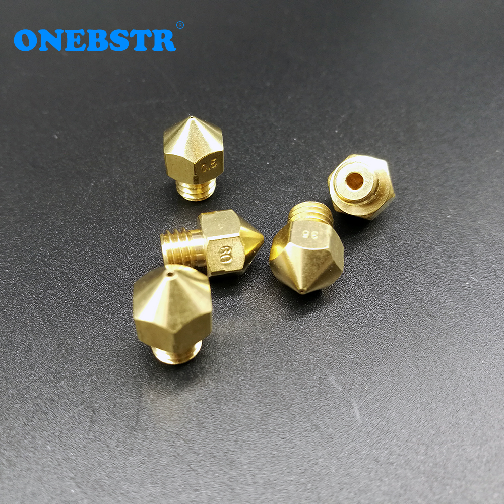5 Unids Reprap Makerbot Impresora 3D MK8 Boquilla de Latón 0.2 / 0.25 / 0.3 / 0.35 / 0.4 / 0.5 / 0.6 / 0.8 / 1.0mm Para 1.75mm / 3mm Suministros de Alta calidad
