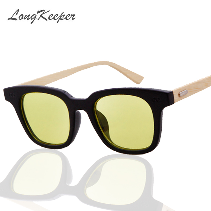 LongKeeper Original Bamboo Sunglasses Men Women Mirrored UV400 Sun Glasses Real Wood Shades Outdoor Goggles Sunglases Male