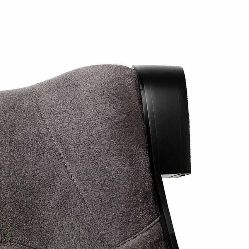 QUTAA 2020 Damen Schuhe Quadrat Niedrigen Ferse Frauen Über Das Knie Stiefel Peeling Schwarz Spitz Frau Motorrad Stiefel Größe 34-43