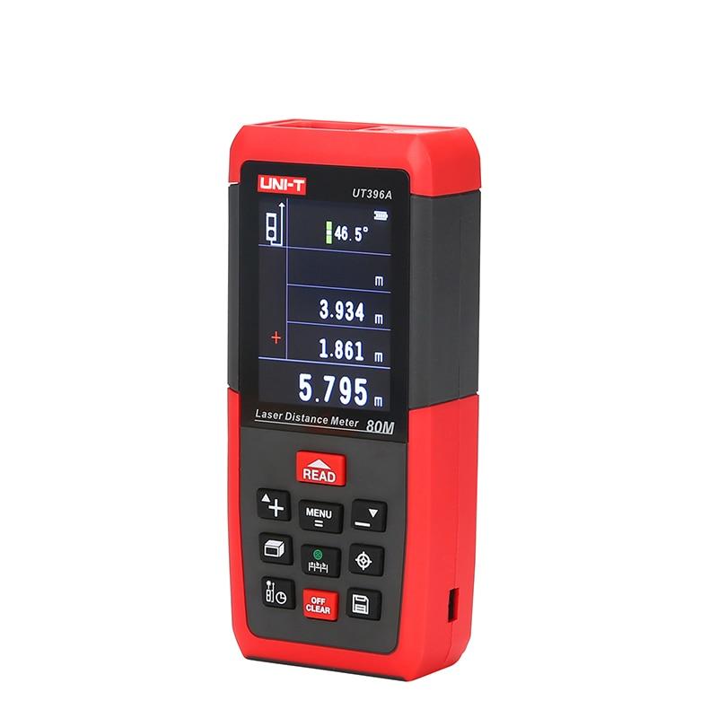 UNI-T UT396B Medidores de Distância A Laser Telêmetro Laser 120 m Câmera 2MP Lofting Teste Instrumento De Nivelamento Área/Volume Range Finder