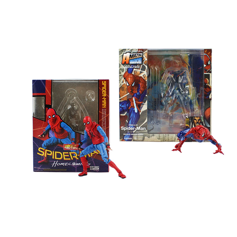 13-15cm spiderman and spider woman cool movable pvc action figure model toy spider man hero collectible gift for friends