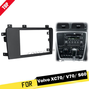 цена на LONGSHI 2 Din Car Stereo Radio Fascia Panel Plate Trim Frame CD Dashboard Panel Audio Frame for Volvo XC70/ V70/ S60 2004-2007