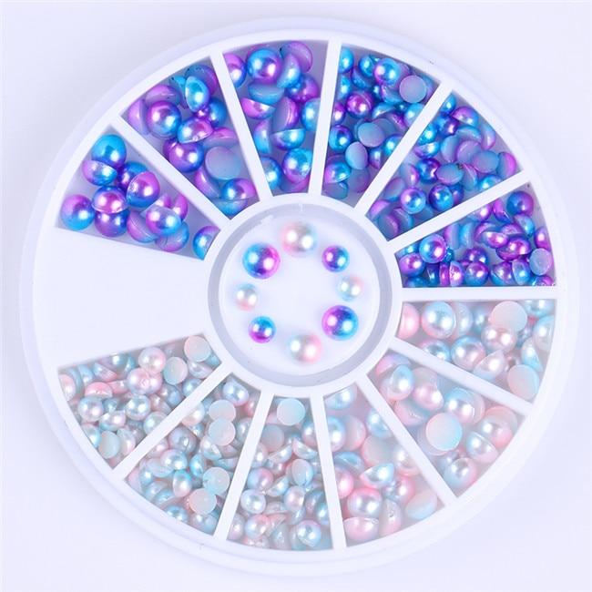Смешанный цвет камень-хамелион Стразы для ногтей маленькие Необычные бусины Маникюр 3D дизайн ногтей украшения в колесиках аксессуары - Цвет: Pattern 10
