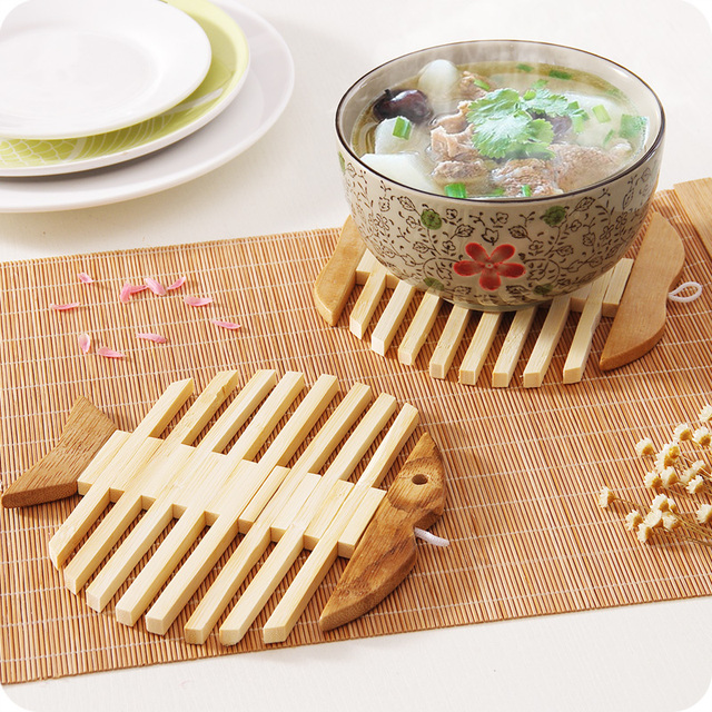 kitchen hot pads best countertops bamboo placemat utensils heat insulation pad dining table bowl plate slip resistant