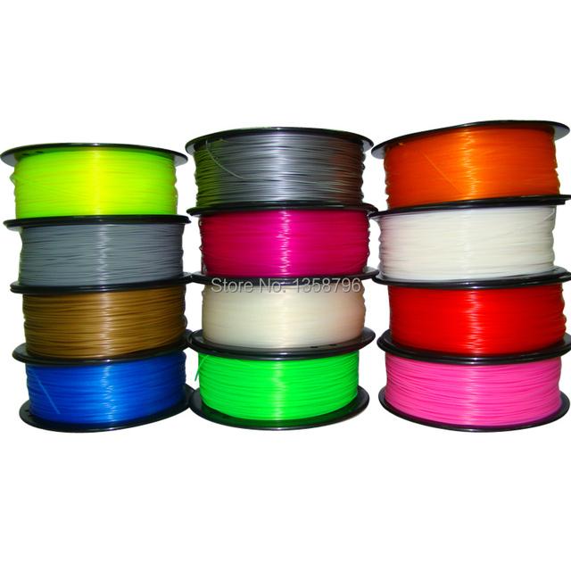 MakerBot/RepRap/UP/Mendel 27 cores Opcional 3d filamento impressão PLA/ABS 1.75mm/3mm 1 kg de plástico de Borracha de Materiais Consumíveis