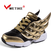 WETIKE Boys Kızlar Yürüyüş Ayakkabı Rahat Eğlence Açık Spor Ayakkabı Çocuk Sneakers Için Melek Kanatları Ile