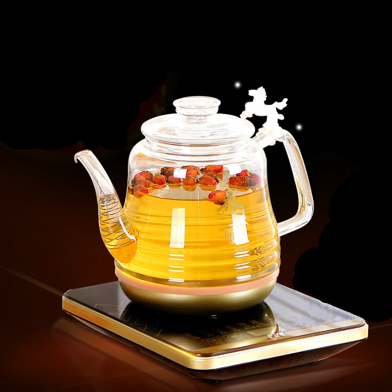 Electric kettle glass health boiler pot boiling tea heater  heat  household Overheat Protection electric kettle health cup mini health pot full of glass electric hot office brew