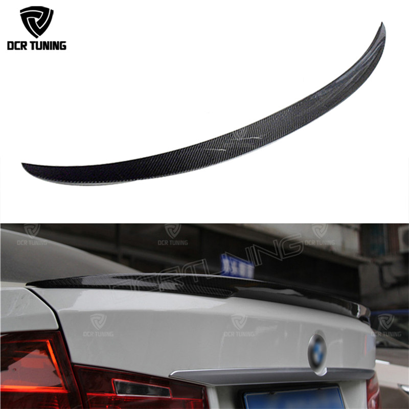 P Style For BMW F30 F80 M3 Spoiler Carbon Fiber Material M Performance Style 2012 - up 320i 328i 335i 326D F30 Carbon Fiber m performance style carbon fiber rear trunk wing spoiler for bmw 3 series f30 2012 2018 318i 320i 328i 330i 335i