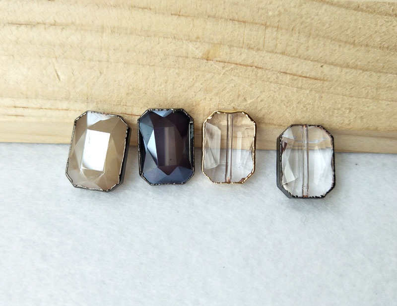 10 Pieces Faceted glass Crystal Loose Beads Spacer Connector Beads Jewelry Finding BD269