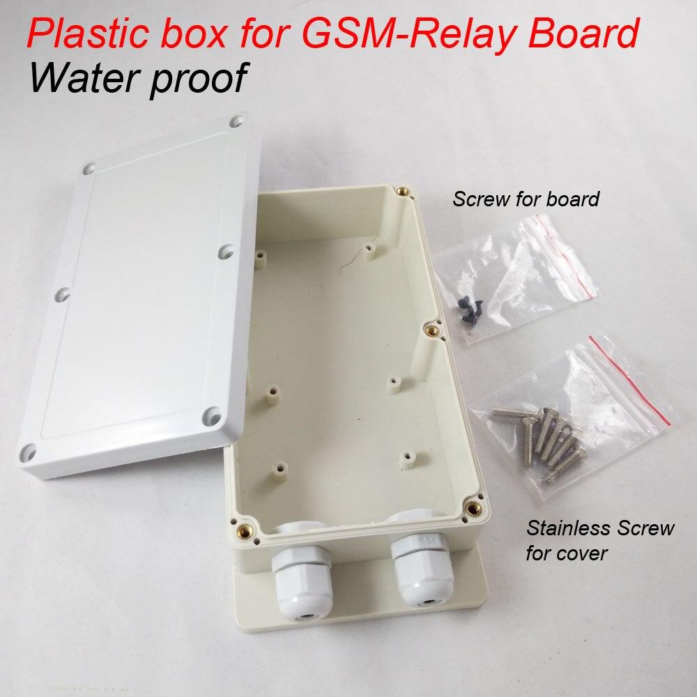 bilder für Kunststoff-box für gsm-relay gsm fernrelaisschalter steuerkarte