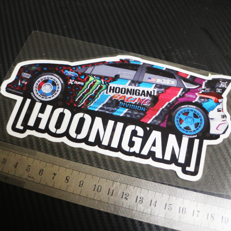 1pcs Car Styling Sticker Decals For Hoonigan Kenblock Reflective Sticker