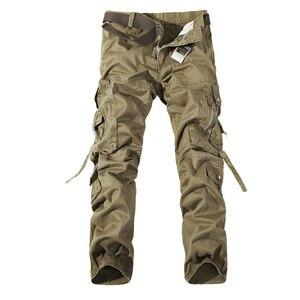 Image 3 - Hommes Cargo pantalon vente chaude grande taille 28 42 marque ample Homme militaire pantalon armée marque vêtements décontracté travail pantalon hommes