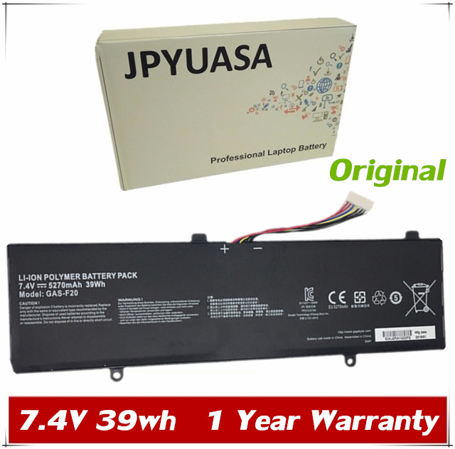 JPYUASA 7.4V 39wh Original GAS-F20 Laptop Battery For GIGABYTE S1185 Series Tablet Laptop