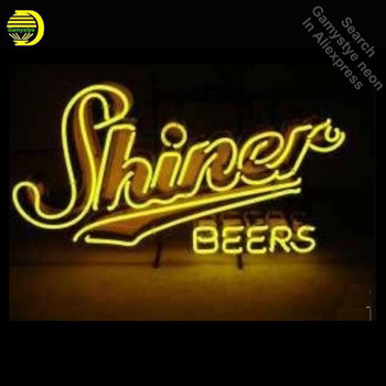 Neon Signs for SHINE Beers Neon Light Sign Handcrafted Indoor arcade Neon Bulb Lamps Real Glass Tube Decorate Room dropshipping фото