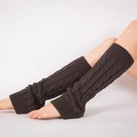 Women's Spring Autumn Dance Training Socks Solid Color Yoga Professional Non-slip Socks Leg Warmers Indoor Exercise Socks