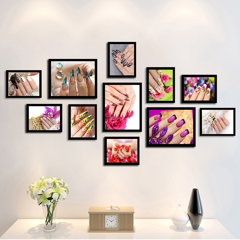 Modern Fashion Beauty Art Canvas Painting Prints Makeups Nail Poster Wall Pictures For Makeup Shop Living Room Home Decor PD0212 in Painting Calligraphy from Home Garden