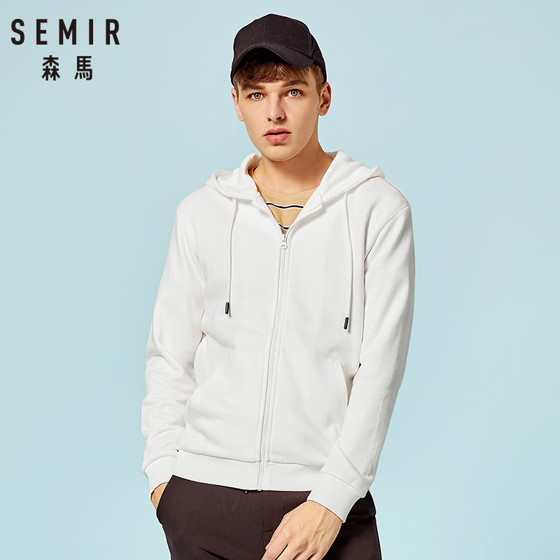 SEMIR 2019 Autumn Sweatshirt Sportswear Hoodies Man Hoodie Sweatshirt Cardigan Men Casual Zipper Slim Hoody Male