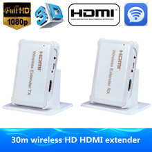 Wi-fi Video Audio Transmission 3D Wi-fi HDMI Extender 30m/98ft HDMI1.4v Full HD 1080P HDMI Sender Transmitter Receiver