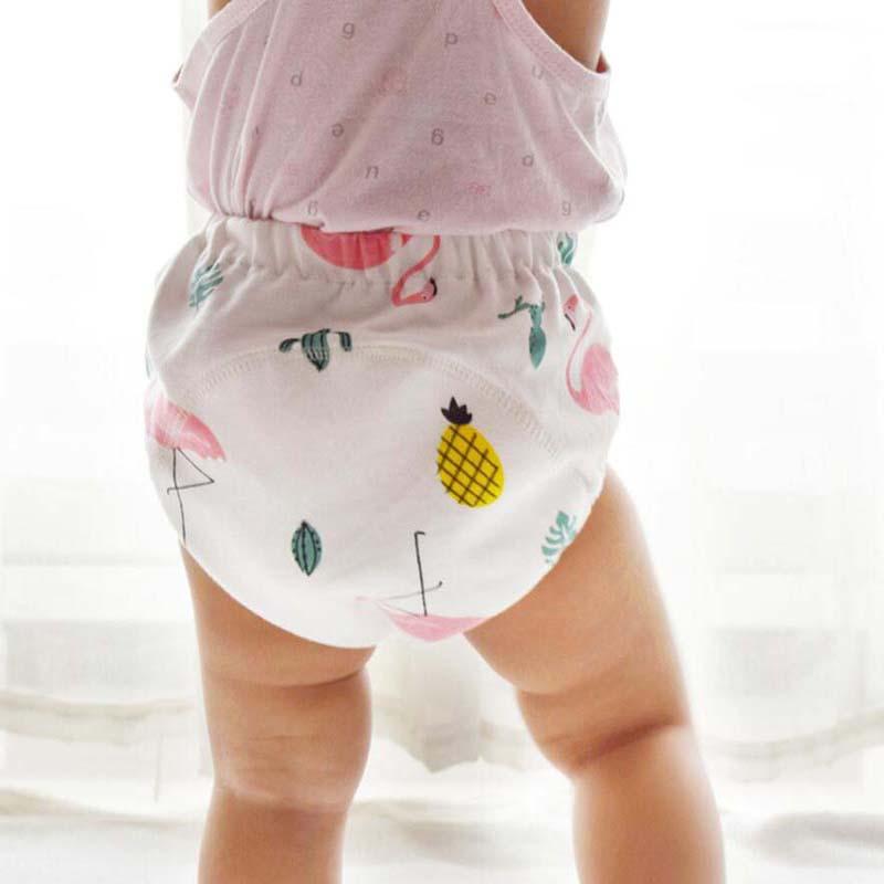 1 шт 6 слоев Многоразовые Детские учебный горшок брюки Дети подгузник трусики поглощения воды для малышей \ Coton газовое Платье мягкое нижнее белье