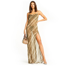 Women Summer Sexy Dress Spaghetti Strap Halter Top Backless Party Dresses Woman Europe Luxury Style Sleeveless Floor-length