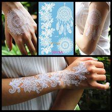 Белая хна Ловец снов, временное тату для женщин Свадебное боди-арт тату паста водонепроницаемый Ловец снов поддельные татуировки наклейки