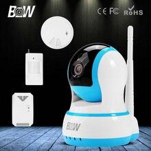 BW HD 720 P Мини Ip-камеры Беспроводные Wi-Fi P2P Видеонаблюдения безопасности P/T CCTV + Инфракрасный Motion Sensor + Газа и Дыма детектор