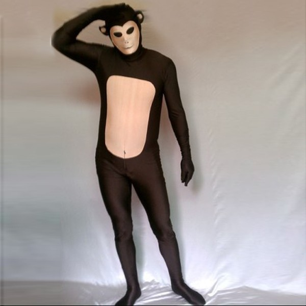 Carne mono trajes Halloween Cosplay disfraces con orejas y cola más barato  Zentai Trajes elástico lycra clásico animal Zentai en Disfraces fiestas  hombre de ... c507a1d7e9e9