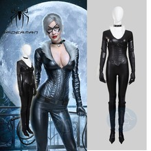 Hero Catcher High Quality Custom Made Black Cat Cosplay Costume Black Cat Suit
