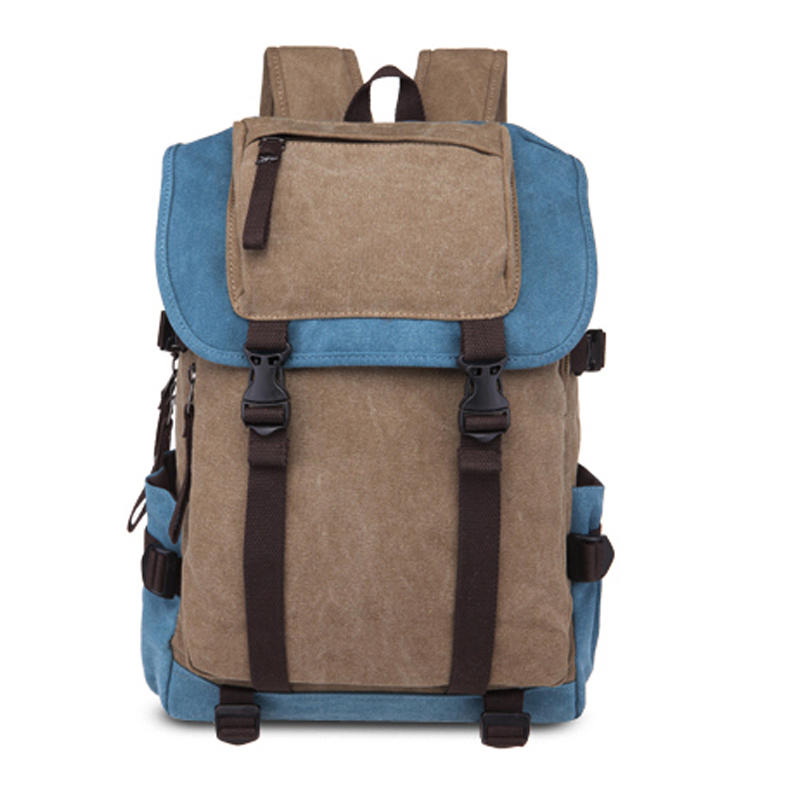 New Canvas Bagpack Fashion Men Waterproof Backpack Travel Casual Laptop Back Pack Schoolbag Student Computer Bags Bagpack
