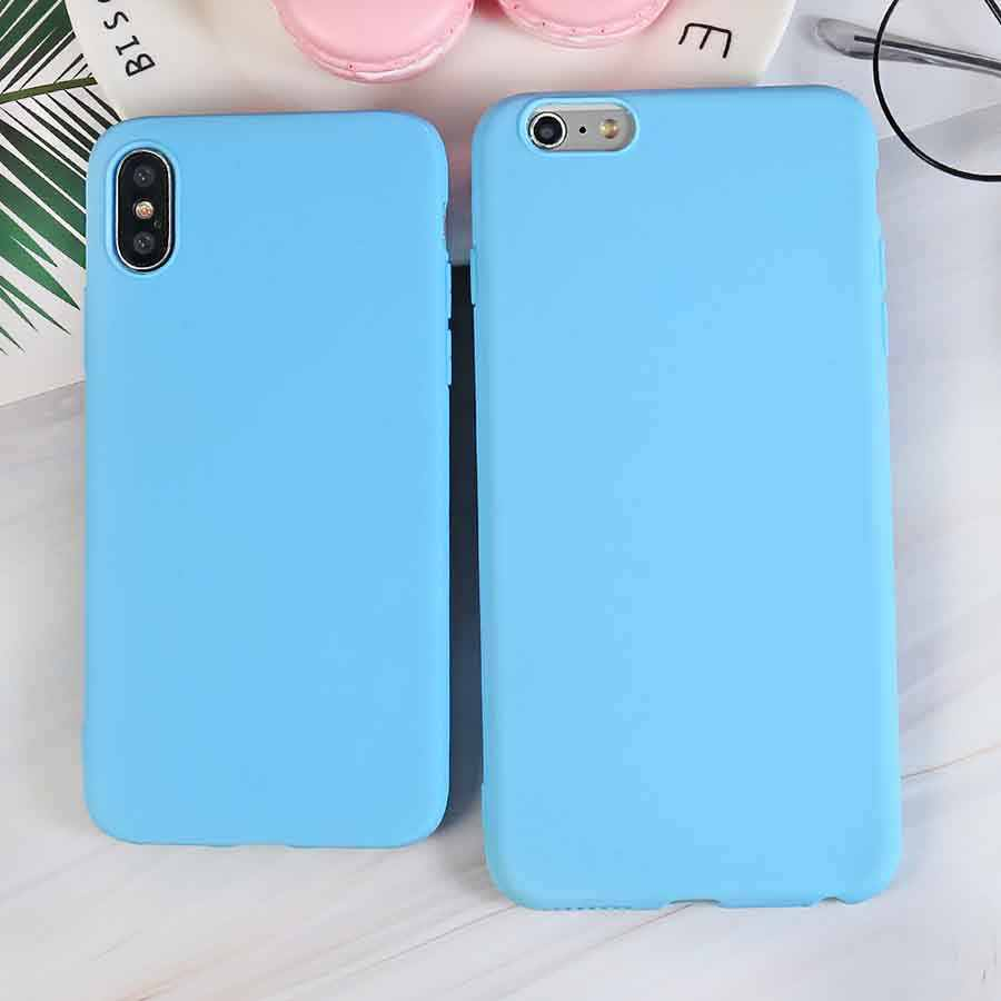 Luxe Sky Blue Zachte Siliconen Telefoon Case Voor Iphone X Xr Xs Max 5 5S Se 6 6S 7 8 Plus 11 Pro Max 2019 6.5In Cover Coque Fundas