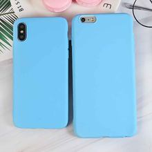 Luxe Sky Blue Zachte Siliconen Telefoon Case Voor Iphone X Xr Xs Max 5 5S Se 6 6S 7 8 Plus 11 Pro Max 2019 6.5In Cover Coque Fundas(China)
