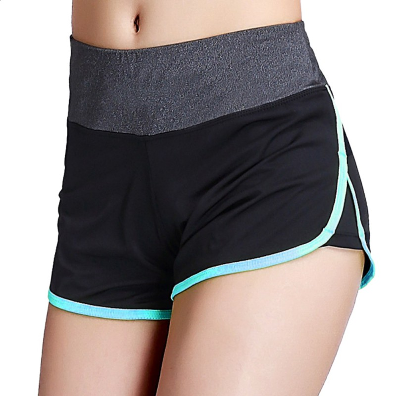 Quick-drying Breathable Fitness Shorts Women Tunic Short Slimming Fat for Workout Active Lined Shorts Cut-Out 2 Layers feminino