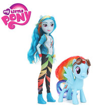 2pcs/set My Little Pony Toys 8cm 28cm Equestria Girls Apple Jack Rarity PVC Action Figure Pony Classic Style Collection Dolls(China)