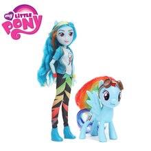 2 pçs/set My Little Pony Brinquedos 8 cm 28 cm Ação PVC Figura Pônei Raridade Equestria Meninas Jack Maçã Clássico estilo Coleção de Bonecas