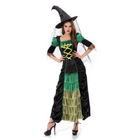 Super Low Prices Adult Green Halloween Witch Costumes For Women