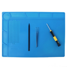 1 PC 3 Size Blue Color Heat-resistant Silicone Pad Repair Mat Heat Insulation BGA Soldering Station