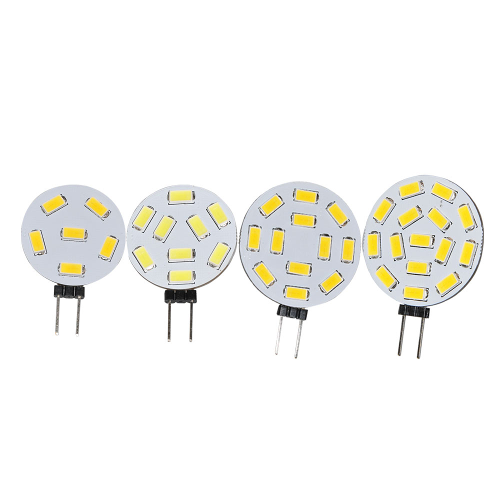 JYL 1pcs G4 Reading RV Light 6 9 12 15 SMD 5630 LED White 1.7W 0.9W 2W Warm White Bulb Lamp 10-30V AC DC