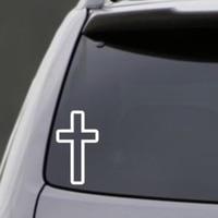 50 Pieces Lot Wholesale Car Sticker Decoration Vinyl Decal CROSS VINYL DECAL CAR WINDOW LAPTOP