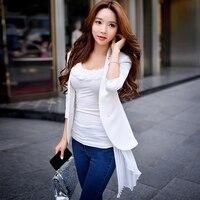 Dabuwawa Two Colors Autumn 3 4 Sleeve Blazer Feminino Coat Women Blazers And Jackets Work To