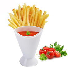 Brand 1Set Creative Salad Bowl Portable Dip Container Fries Cup For Convence Cooking DIY Kitchen Decorating Tools