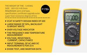 Image 2 - فلوك مقياس رقمي 17B+ متعدد الوظائف, جهاز فحص فولتية التيار المتردد/التيار المستمر، السعة الكهربائية، التيار، المقاومة، درجة الحرارة، قياس الدرجة تلقائيًا/يدويًا