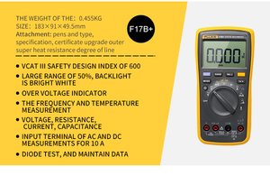 Image 2 - FLUKE multímetro Digital 17B +, medidor de temperatura automático/Manual de corriente de voltaje AC/DC, capacitancia Ohm