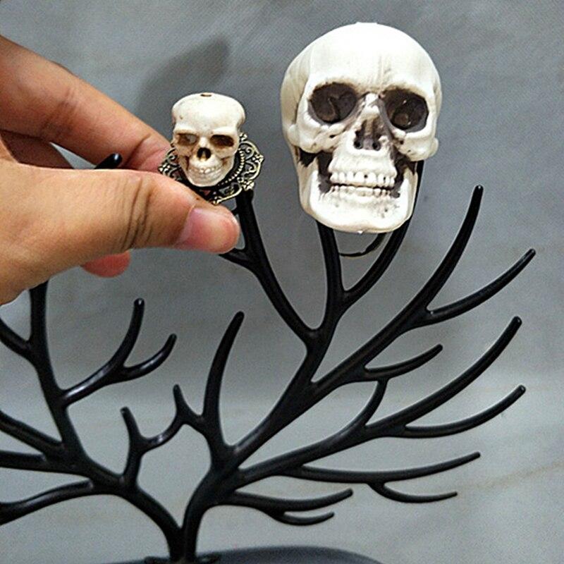 Handmade Lolita Gothic Skull Rings Prop Cosplay Accessory Halloween