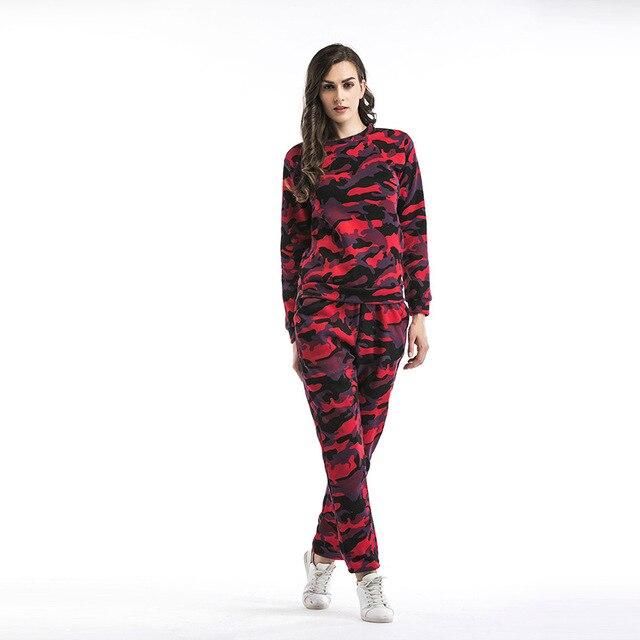 5d4df774fc two piece set top and pants women tracksuit outfits autumn winter camouflage  sweat suits casual sets clothes ensemble femme 5542