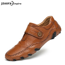 Men Causal Shoes Genuine Leather Loafers Flats Moccasins Mens Male British Style