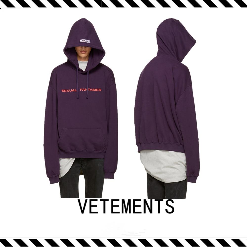 Best Version 2016 Fall Winter Vetements Purple Sexual -2598