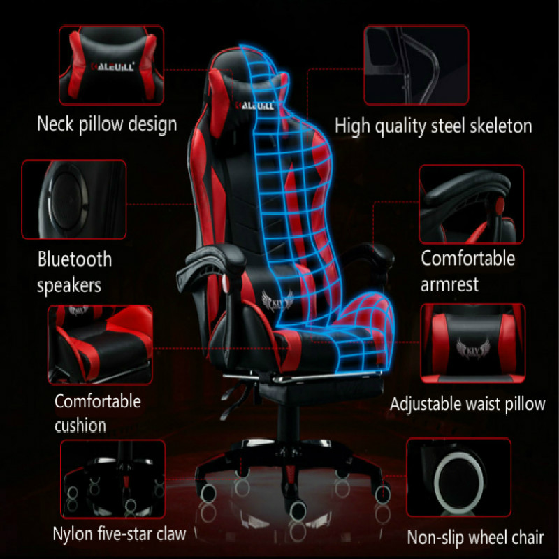 Купить с кэшбэком Multi-function Office Chair Household Reclining Massage Computer Chair Lifted Rotation E-sports Gaming Chair Cadeira Gamer
