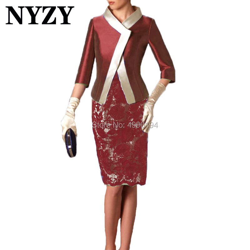 Elegant Bolero Jacket 2 Piece Mother Of The Bride Dresses NYZY M214 Wedding Guest Dress Party Outfits Church Suits