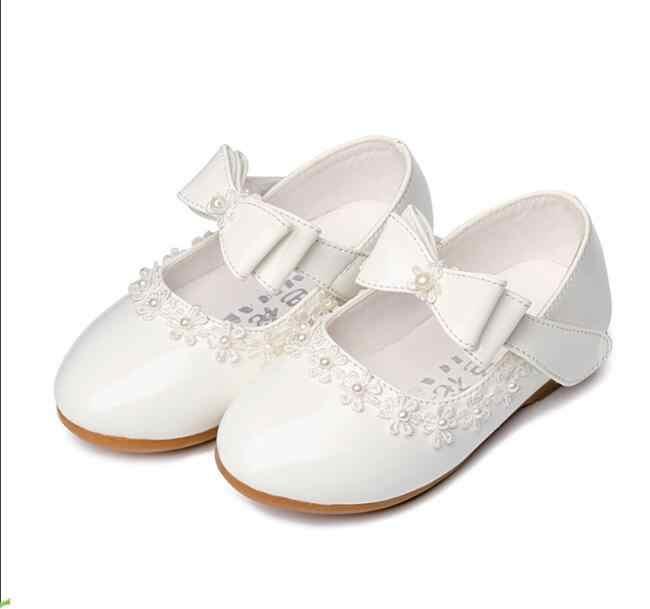 Niños boda pu zapatos de cuero infantil niños niñas Bowtie princesa sandalias encaje casual flor Zapatos niños niñas zapatos